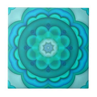 Elegant Teal Turquoise Geometric Bathroom Tile