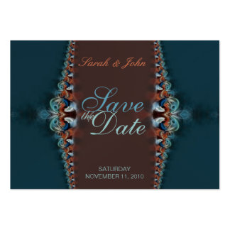 Elegant Teal Wedding and Invitations Card Business Card