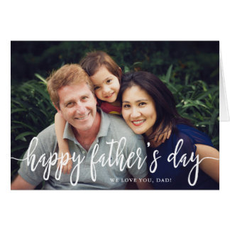 Elegant Text Photo Father's Day Greeting Card