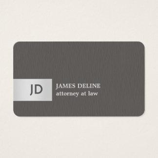 Elegant Texture Grey Silver Monogram Attorney