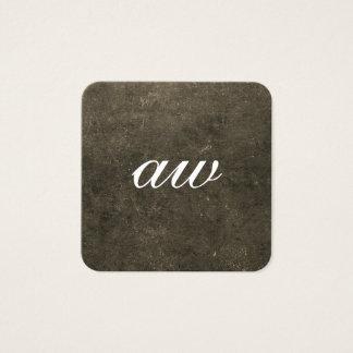 Elegant Texture Monogram Square Business Card