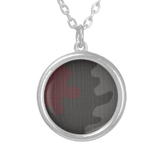 Elegant texture silver plated necklace