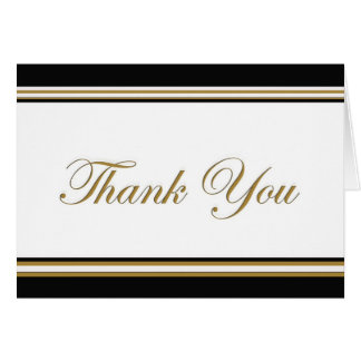 elegant thank you greeting card