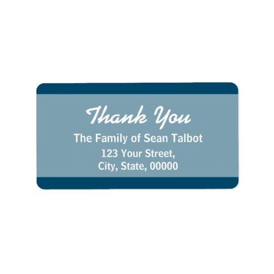 Elegant Thank You Label Choose your colour 3 Address Label