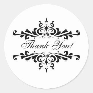 Elegant Thank You Wedding Favour Stickers