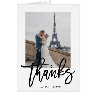 Elegant Thanks | Wedding Photo Card