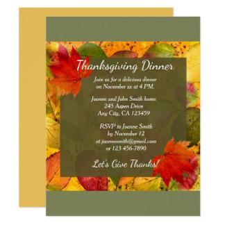 Elegant Thanksgiving Day Dinner Invitation