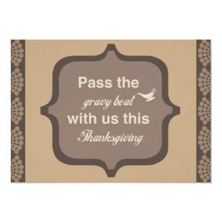 Elegant Thanksgiving Dinner Invitations