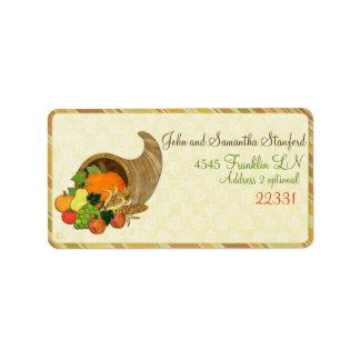 Elegant Thanksgiving Mixed Media WIDE ADDRESS Address Label