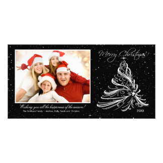 Elegant Tree Family Christmas Photo Card