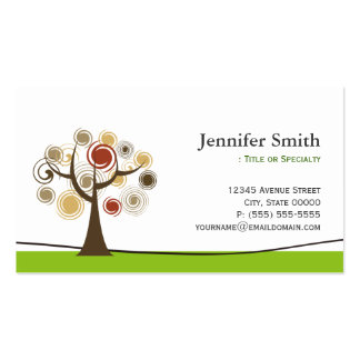 Elegant Tree of Life Symbol - Appointment Pack Of Standard Business Cards