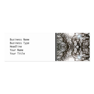 Elegant Tree Pattern Double-Sided Mini Business Cards (Pack Of 20)