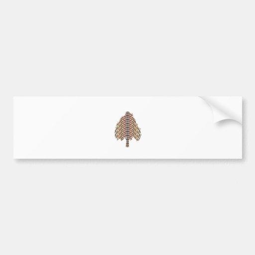 ELEGANT Tree Symbol:  Metalic Colors LOWPRICE STOR Bumper Stickers