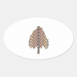ELEGANT Tree Symbol:  Metalic Colors LOWPRICE STOR Oval Sticker