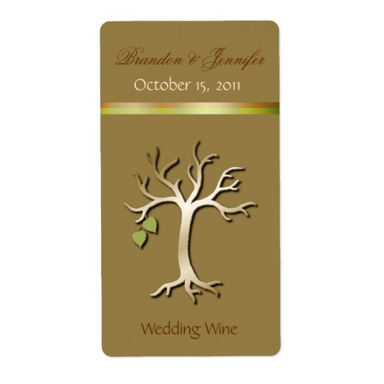 Elegant Tree Wedding Mini Wine Labels