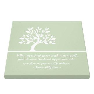 Elegant Tree Yoga Meditation Instructor Quotes Canvas Print