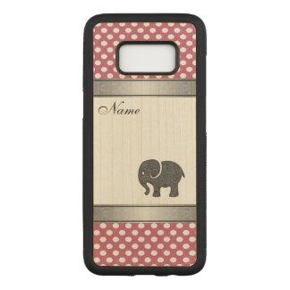 Elegant trendy  elephant polka dots personalized carved samsung galaxy s8 case