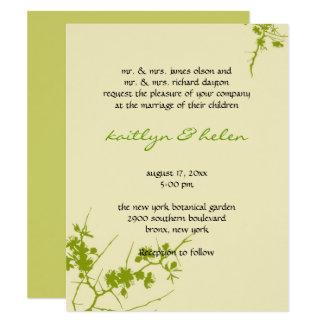 Elegant Trendy Gay Lesbian Wedding Invitation