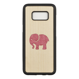 Elegant trendy girly cute elephant carved samsung galaxy s8 case