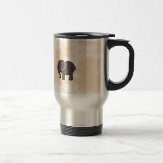 elegant trendy girly cute elephant lace mug