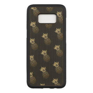 Elegant trendy girly cute golden pineapples carved samsung galaxy s8 case