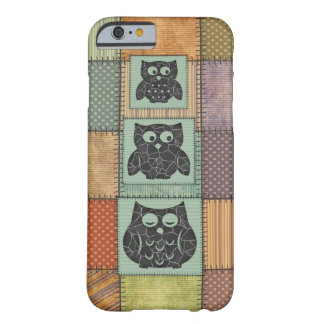 Elegant trendy girly cute owls patchwork barely there iPhone 6 case