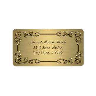 Elegant trendy gold  vintage address label