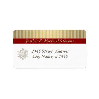 Elegant trendy holiday Christmas snowflake Address Label