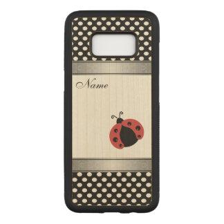Elegant trendy  ladybug polka dots personalized carved samsung galaxy s8 case