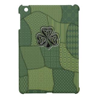Elegant trendy lucky Irish shamrock patchwork Case For The iPad Mini