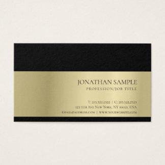 Elegant Trendy Professional Creative Gold Look Business Card