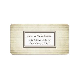 Elegant trendy vintage narrow stripes address label