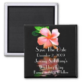 Elegant Tropical Flower Save the Date Magnet