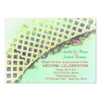 Elegant Tropical Garden Wedding Invitation