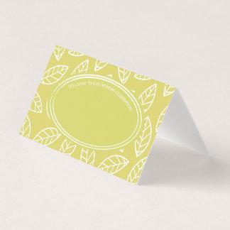 Elegant Tropical Leaf Wedding Party Place Card