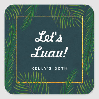 Elegant Tropical Luau Party Stickers