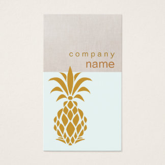 Elegant Tropical Pineapple Logo