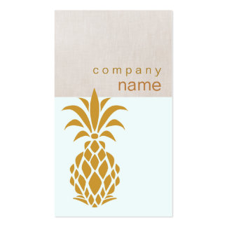 Elegant Tropical Pineapple Logo Pack Of Standard Business Cards