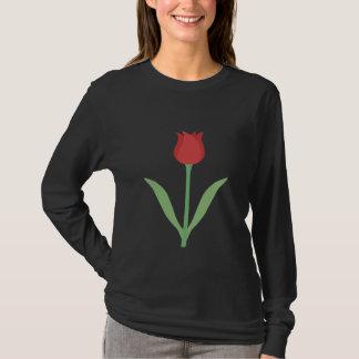 Elegant Tulip Design on Black. T-Shirt