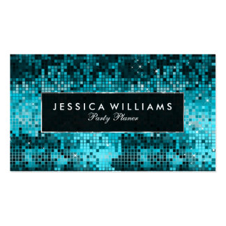Elegant Turquoise Disco Glitter Pack Of Standard Business Cards