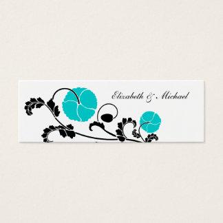 Elegant Turquoise Poppy Gift Registry Cards