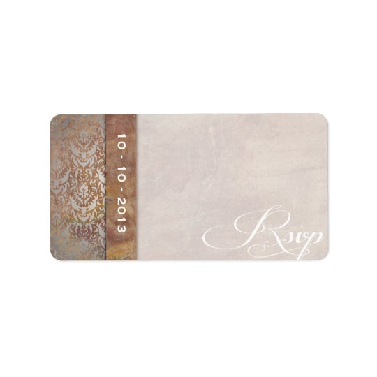 Elegant Tuscan Damask Italian RSVP Label