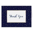 Elegant Twinkle Stars Midnight Blue Thank You Card