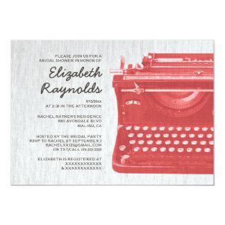 Elegant Typewriter Keys Bridal Shower Invitations