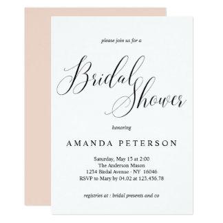 Elegant Typography Calligraphy Bridal Shower Card