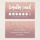 elegant typography dusty rose gold loyalty card