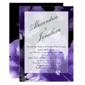 Elegant ultraviolet flowers | wedding | monogram card
