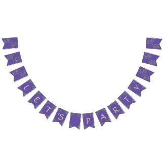 Elegant Ultraviolet  Purple Let's Party Bunting