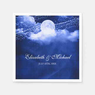 Elegant Under the Moonlight Wedding Disposable Serviette