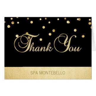 Elegant Unique Black Gold Foil Business Thank You Card